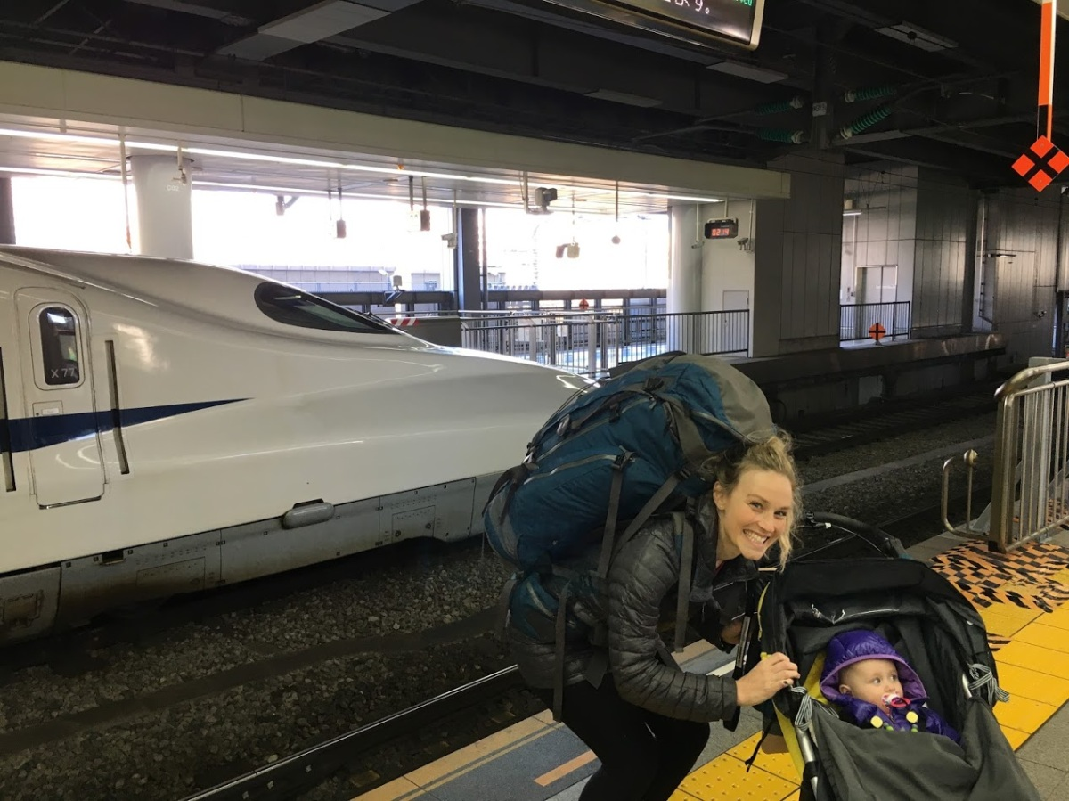 Taking the bullet train with baby in Japan