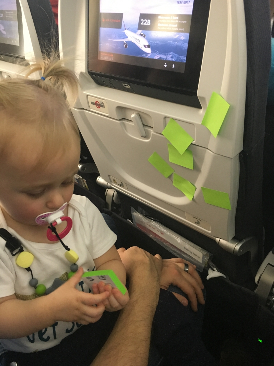 Surviving a daytime flight with a toddler